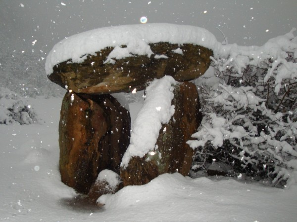 Dolmen in the snow