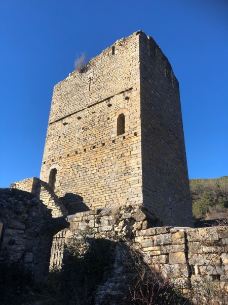The defensive tower of Escuer Alto