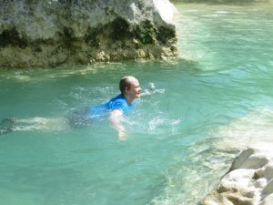 Swimming the Rio Vero