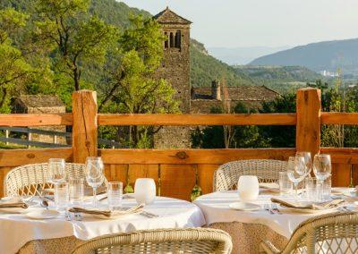 Terrace of Hotel Viñas de Larrede