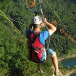 Zip line in the Pyrenees