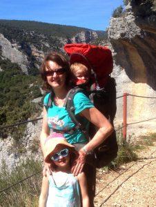 Anna hiking Alquezar
