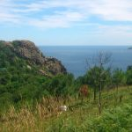 Hiking along the Basque coastline