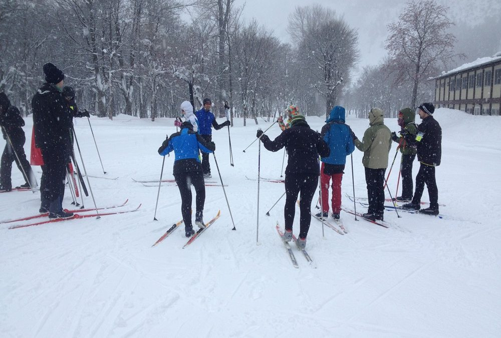 Cross country skiing at Balneario de Panticosa