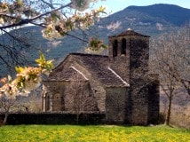 Romanesque church in the Pyrenees