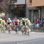 La Vuelta passing the Hike Pyrenees office