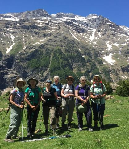 Group in Valle de Pineta