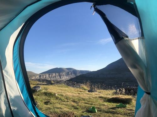View from our tent at Refugio Goriz
