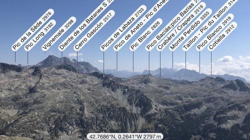 Plenty of summits in view from Garmo Negro