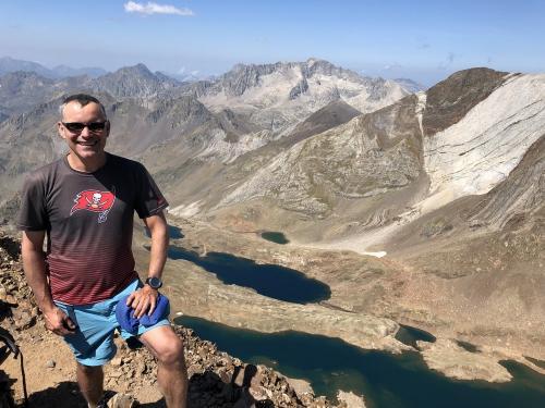 Phil on the summit of Garmo Negro