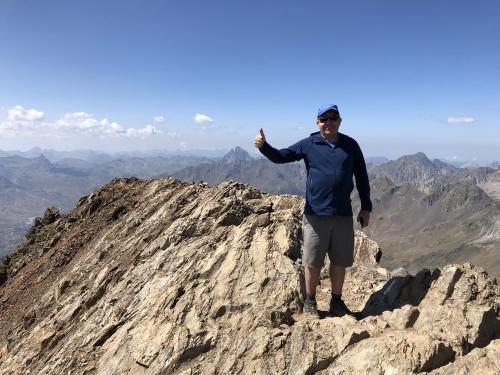 On the summit of Garmo Negro