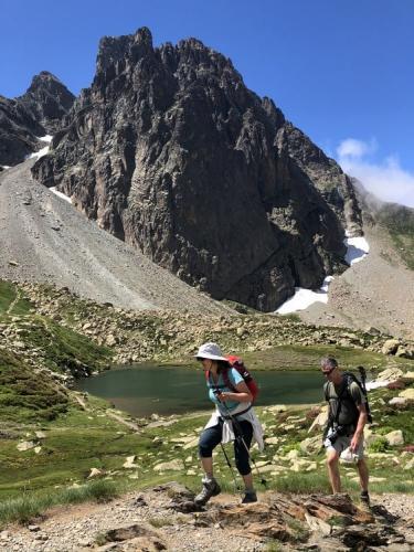 Hiking under Midi d'Ossau