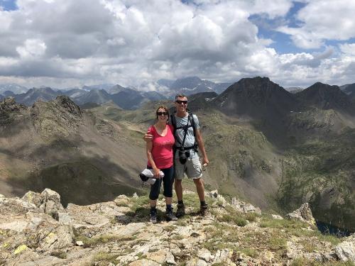 On the summit of Pico de Catieras