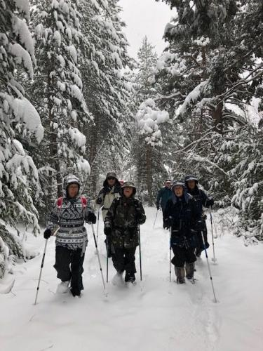 Snowed heavily this day and we set out straight from the village