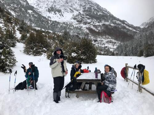Civilsed lunch with a picnic table!