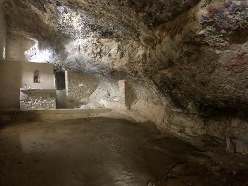 In cave of the ermita