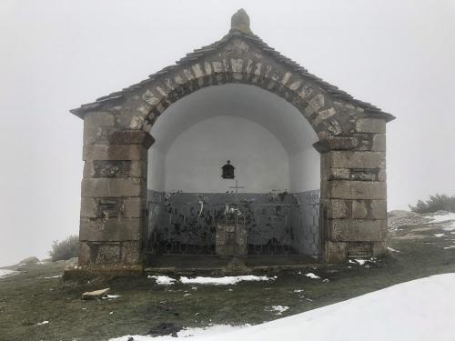 The 'Zoque' or shrine on the plateau at the top.