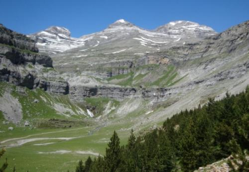 Monte Perdido at the head of the Ordesa Valley