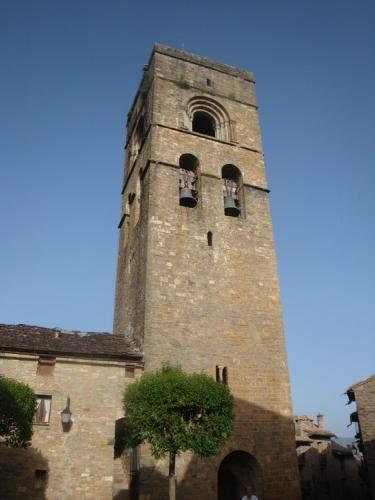 11th century Santa Maria church in Ainsa