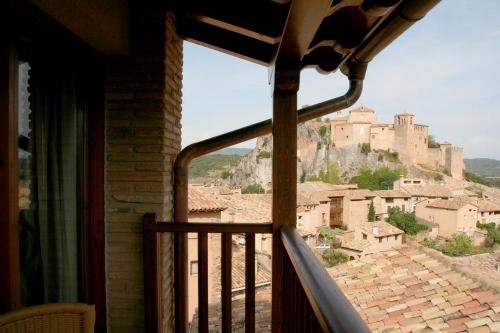 View from a Double room in Hotel Castillo - Alquezar