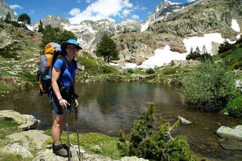 At one of the Ibones de Arriel - a really pretty set of high mountain lakes.