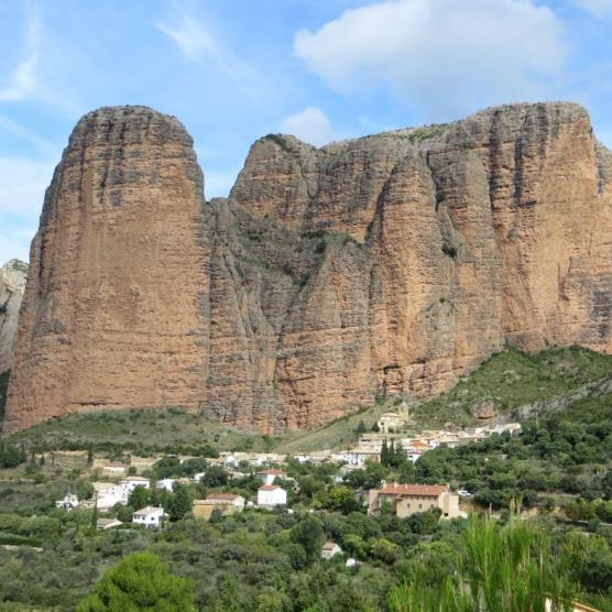 Views of Mallos de Riglos from Murillo de Gallego