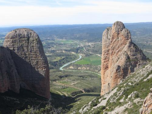 Views of Mallos de Riglos from the top