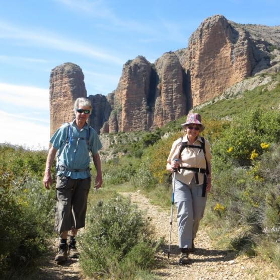 Walking in Mallos de Riglos