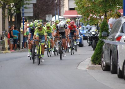 La Vuelta passing through Biescas