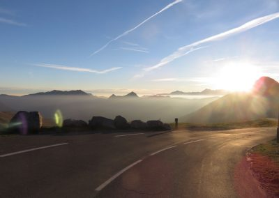 Above the clouds on the Col d'Aubisque