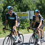 Team Sky heading up the Col d'Aubisque